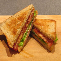 BLT - bacon, lettuce, and tomato sandwich
